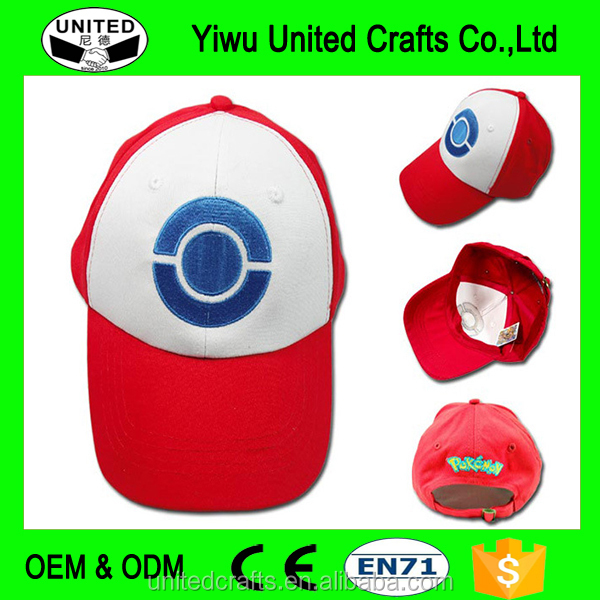 HOT POKEMON ASH KETCHUM COSTUME summer Cosplay Hat Visor Cap G gift