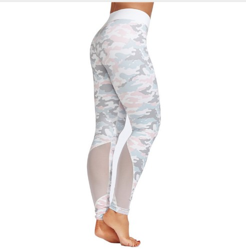 Custom Print Yoga Leggings Yoga Broek Camo Mesh Leggings Athletic