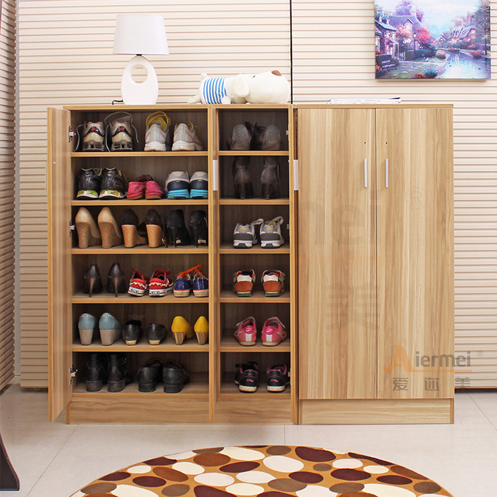 Home furniture solid teak wood shoe storage cabinet design - Muebles para zapatos ...