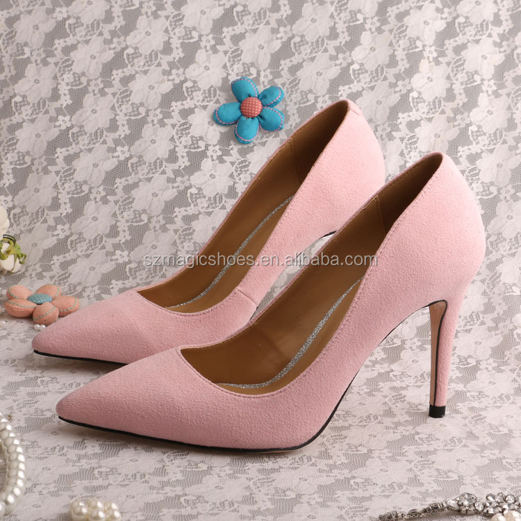Suede Leather Shoes Women Lady