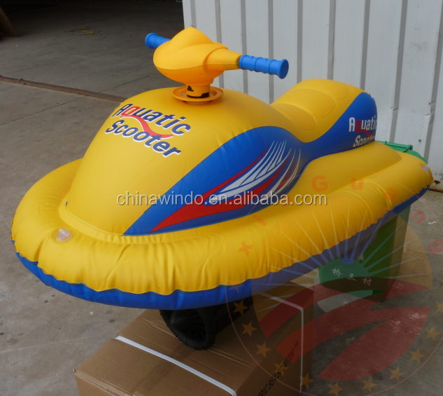 kids small inflatable motorized jet ski boat for pool
