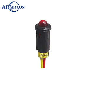 Abbeycon Led color R G B W 220v natural gas low voltage plastic led indicator 8mm pilot lamp with wire