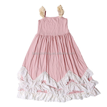 wholesale children s boutique clothing dusty rose long maxi princess dress  latest girls dresses a8aa74774