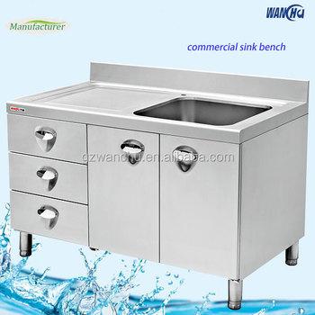 Stainless Steel Kitchen Base Cabinet For Restaurant Manufacturer