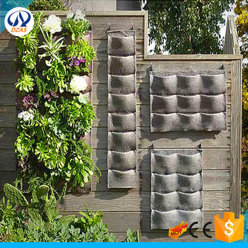 New Indoor Outdoor Wall Hanging Planter Vertical Felt Garden Plant Grow  Container Bags