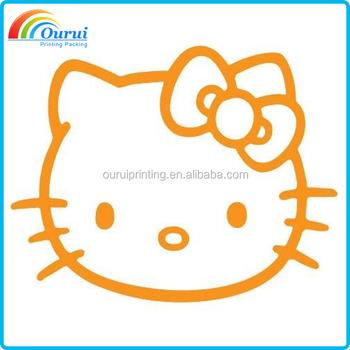 Cartoon Hello Kitty Bumper Sticker And Laptop Sticker