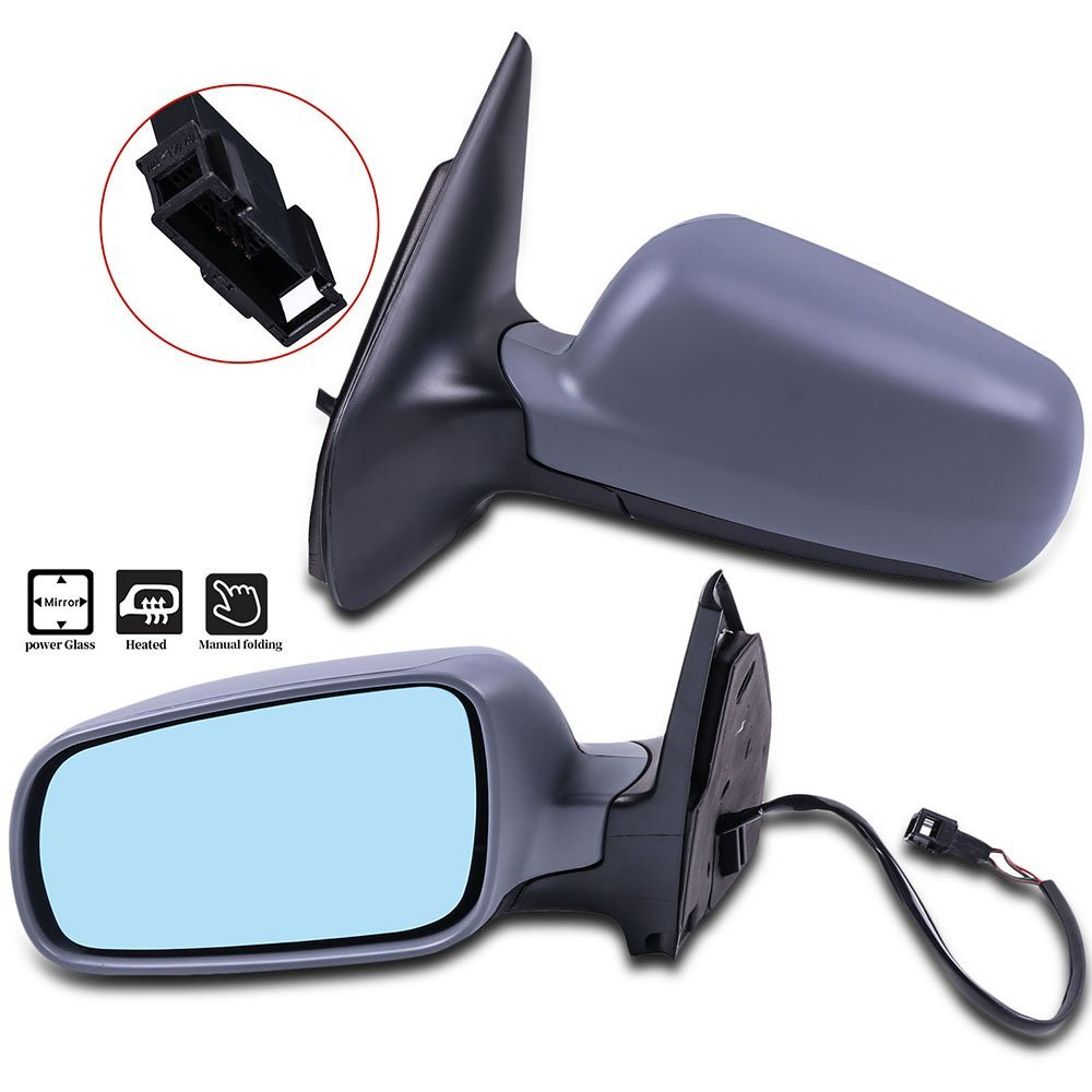 SCITOO Door Mirrors fit Nissan Exterior Accessories Mirrors fit 07-12 Nissan Sentra with Power Controlling Manual Folding Features Passenger Side