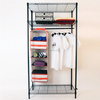 Modern 3 Tiers DIY Metal Clothes Wardrobe with Hanger