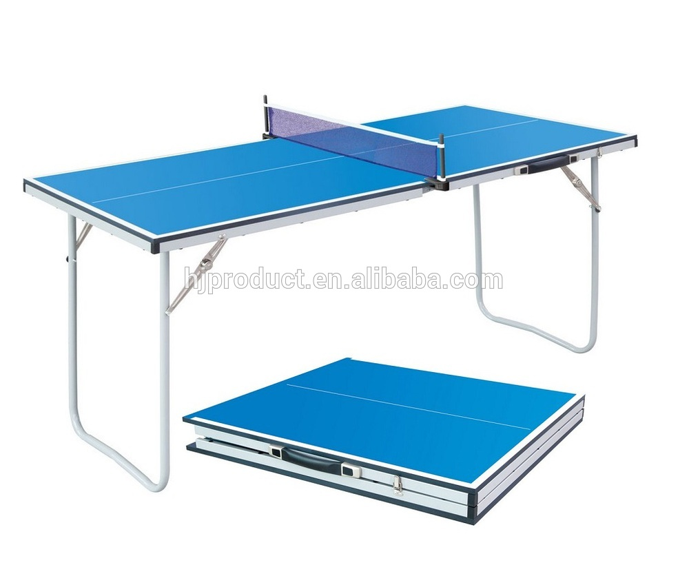 small size folding table tennis table portable mini ping. Black Bedroom Furniture Sets. Home Design Ideas