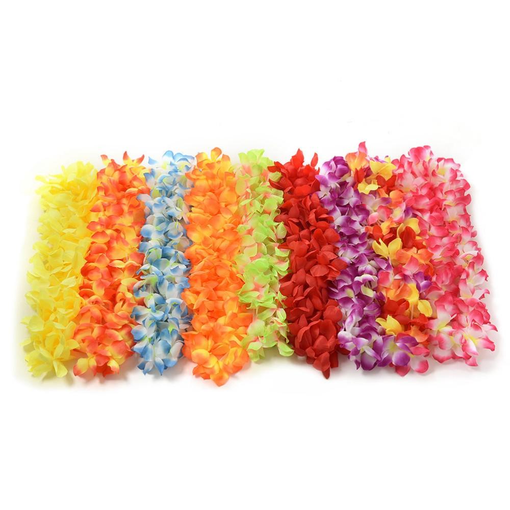 Various Colours Fabric Yellow Hawaiian Garland Lei