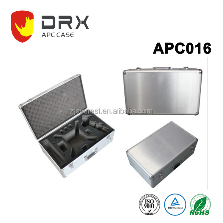 APC016 Everest Model DJI 4 aluminum case lockable plastic tool box aluminum case aluminum plastic tool case