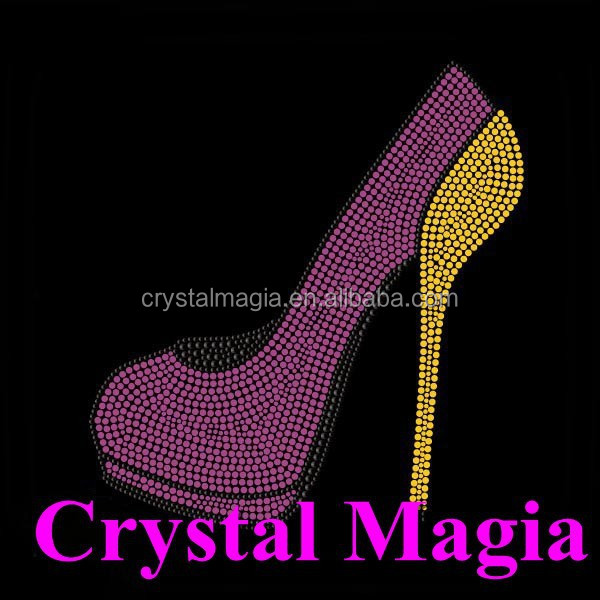 2015 heat press shoe rhinestone transfers fabric garment templates