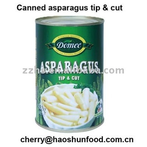 Canned White Asparagus Tip Cut in Brine