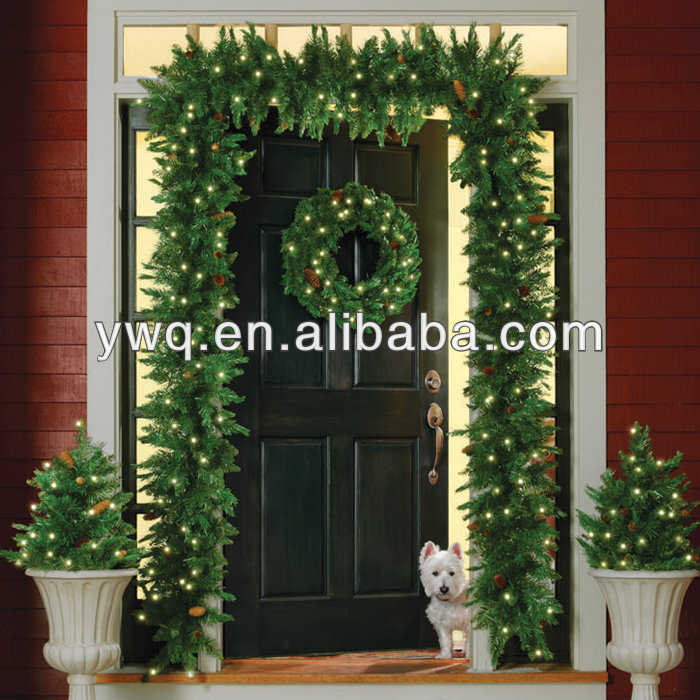New Year Outdoor Christmas Garland 10ft Pre Lit Christmas Garlan With Led Bulbs Buy Outdoor Tree With Bulbs Christmas Wreaths Cheap Personalized Christmas Wreaths Product On Alibaba Com