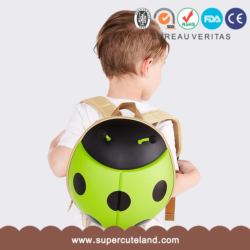 Boy Girl Kawaii animal design school bag Eva Ladybug Green oem backpack