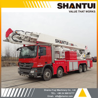 Fire truck manufacturer, DG54 SHANTUI aerial platform type fire truck for high building