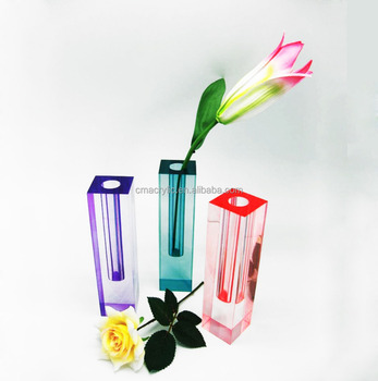 Beautiful Colorful Acrylic Flower Vase For Home Decor Buy Small