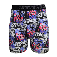 Fashion Sublimation Print Polyester And Spandex Classic Waist Long Boxer Shorts Underwear Men