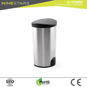 Ninestars Stainless Steel 13 Gallon Slim Trash Can With Lid Buy