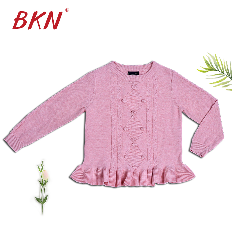 KD034 Kinder Bottomn perlen mit argyle kabel stricken Pullover