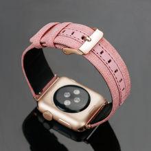 Кожаный холщовый ремешок для Apple watch 5 4 band 44 мм 40 мм correa Iwatch 3 2 band 42 мм 38 мм роскошный браслет аксессуары для ремня(Китай)