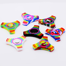 New Design Colorful Spinner Fidget Toy Silicon Hand Spinner Gift For Kids Adult