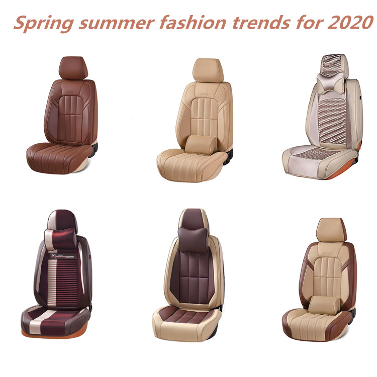Universal car seat covers with cartoon pillows /custom car seat covers for women