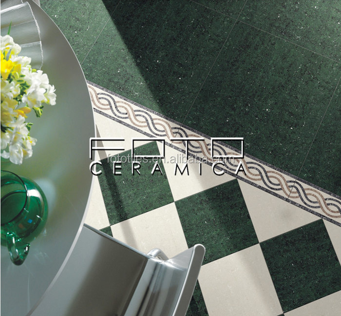 Foshan Besten Dunkelgrune Farbe Poliert Porzellan Keramik