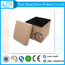 China supplier non woven plain color folding storage stool