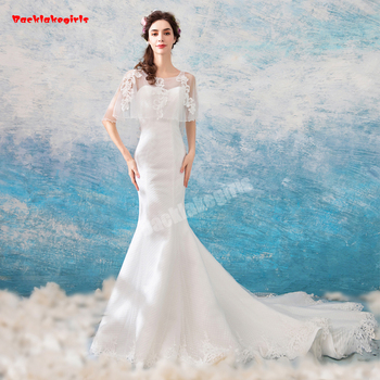 fb0c365fb1e 562 New Sexy Slim Fit Transparent Shawl Mermaid Wedding Dress ...