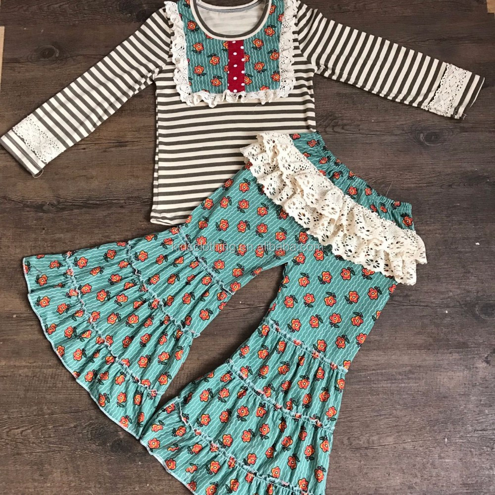 2017 Newest little girls remake outfit for spring lovely kids remake spring floral sets toddler remake clothes