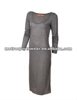 Ladies' maxi long dress/Jersey/cotton/2012