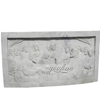 Carved garden wall panel relief