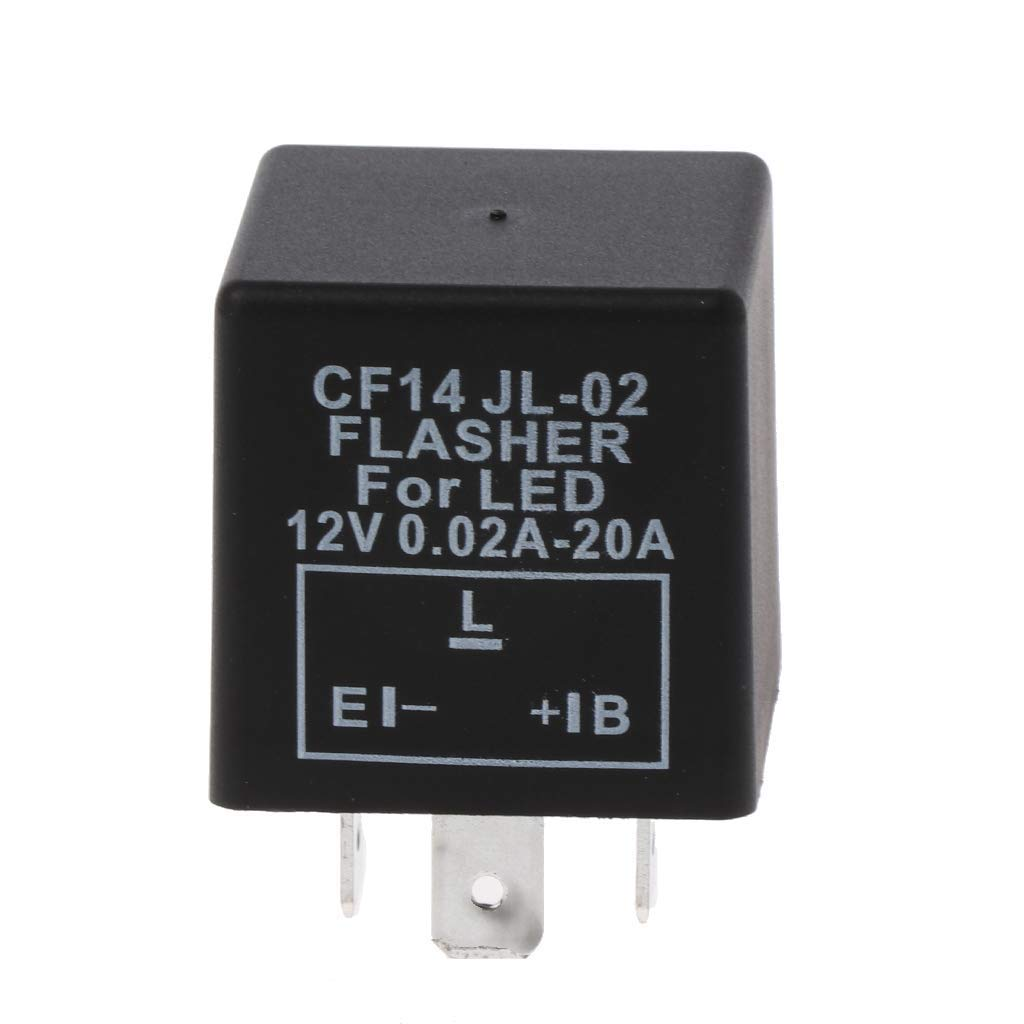 Lsgoodcare 5 Pin EP27 FL27 LED Electronic Flasher Relay Used for LED Turn Signal Light Bulbs Hyper Blinking Flash Decoder Load Equalizer 12V 0.1W 150W