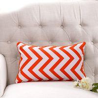 1-Piece Linen Cotton Geometric Wave Modern Cushion Cover Rectangle Decorative Throw Pillow Cover 3050cm Capa De Almofada