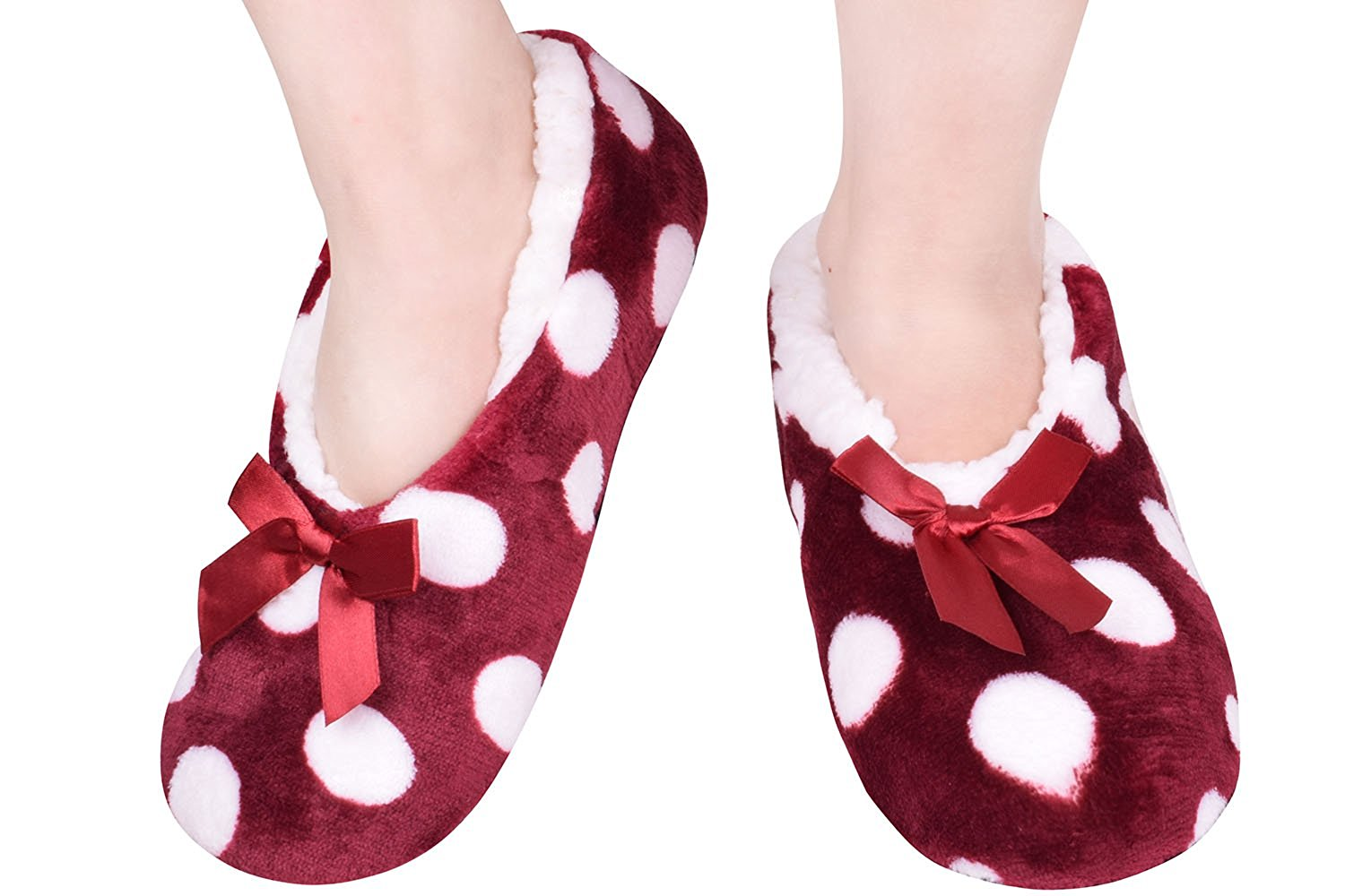 88f3cef7a13 Get Quotations · Winter Adult Plush Slippers Boot Indoor Anti-Slip Bedroom  Shoes Warm Fuzzy Mules