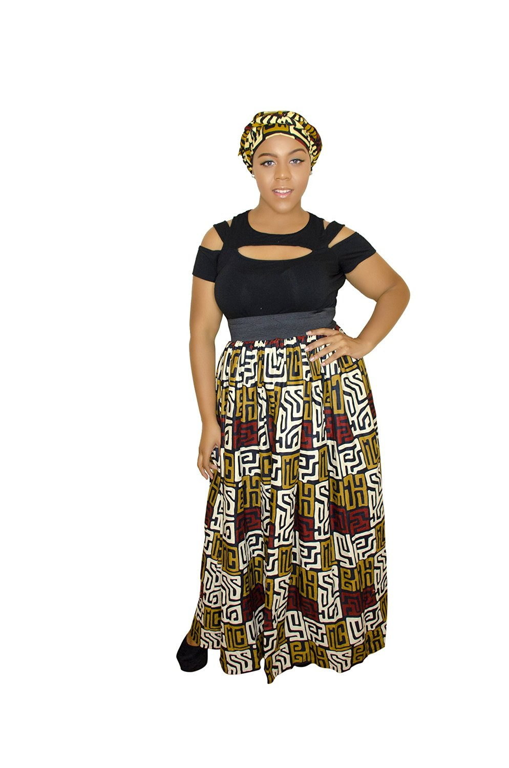 560a39ebe4 Get Quotations · African maxi skirt, Anakara, African fashion, African print  Large/XL