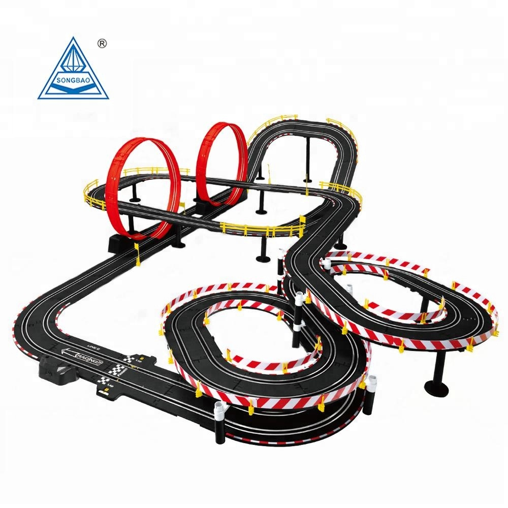 Kids Electric Track Car Toy Electric Toy Slot Race Car Track RC Car