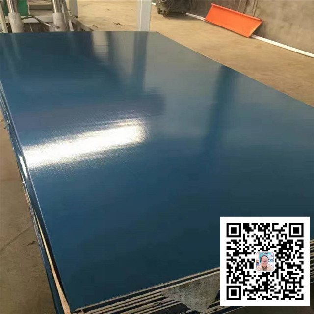 New construction products Green and blue colour pp plastic coated laminated plywood sheet