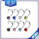 Custom stainless steel colorful zircon body piercing jewelry