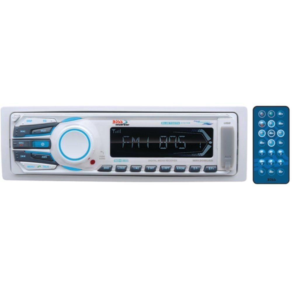 BOSS AUDIO MR1308UAB Marine Single-DIN In-Dash Mechless Receiver with Bluetooth(R) (Silver) consumer electronics