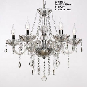 Crystal glass chandelier 6 ways simply type