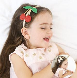 MJ001 girls kids hairband Cherry sequins hair head hoop band accessories for children hair ornaments