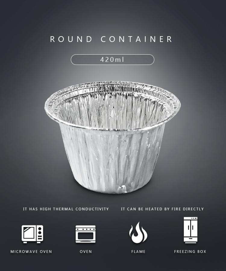 8011 Aluminium Foil Baking Container Cake Cups Bowl