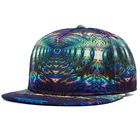Natur hat 100% cotton 5 panel snapback makers china cap spain faux snakeskin