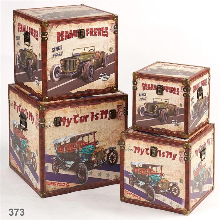 wholesale customized decorative vintage wooden storage trunk box sets - Decorative Storage Trunks