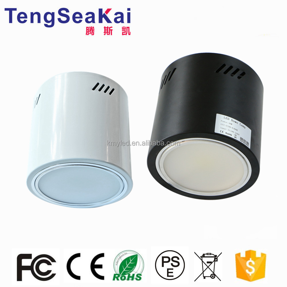 Cylinder shape downlights 6 inch 8 inch black/white housing LED surface mounted ceiling lights