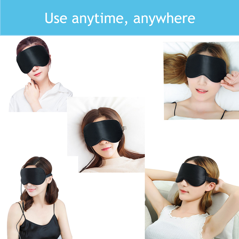Hot Selling Private Label Custom USB Elektrische Slaapmasker Eye Groothandel 3d Verwarming Stoom Slaap Zijde Oogmasker