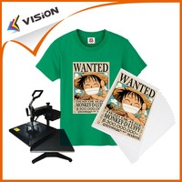 A4 iron-on sublimation heat tranfer paper for dark T-shirt