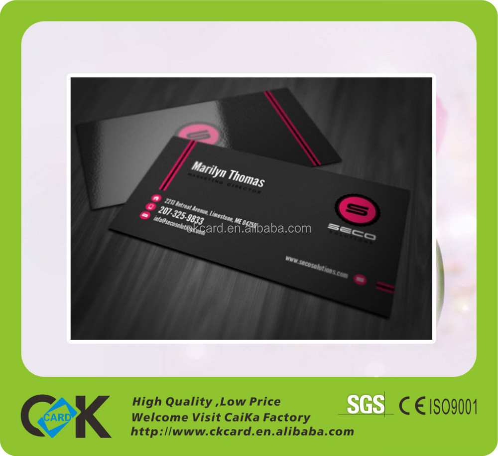 Custom Cmyk Printing Luxury Pvc Business Card From 12 Years China ...